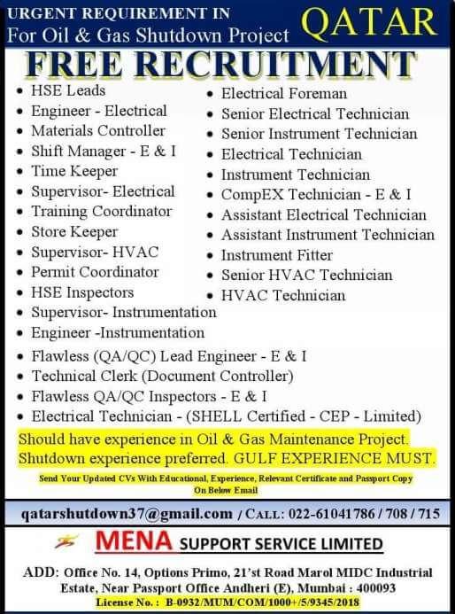 gulf-job-vacancy-2021