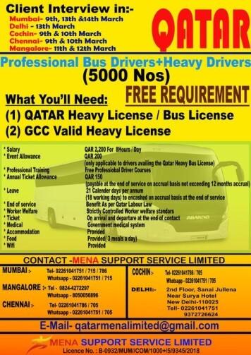 driver-vacancy-in-Qatar