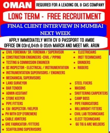 gulf-job-vacancy-mumbai
