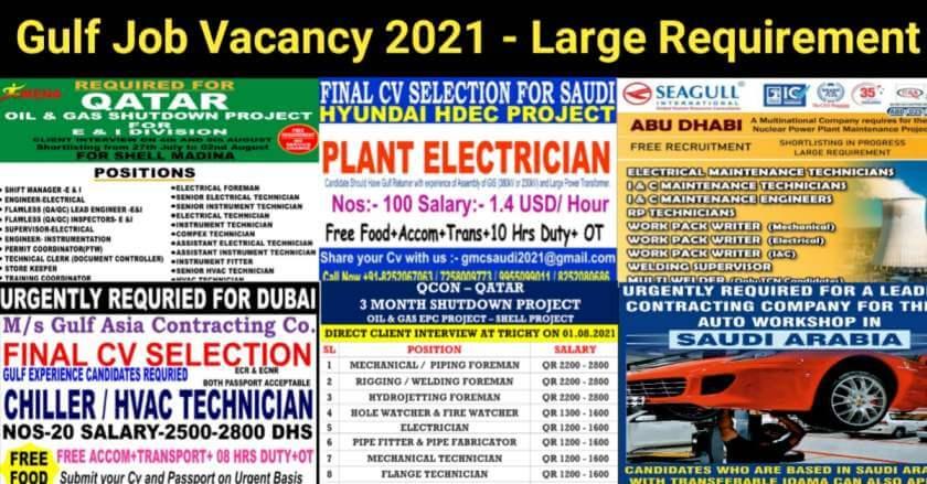gul job vacancy 2021