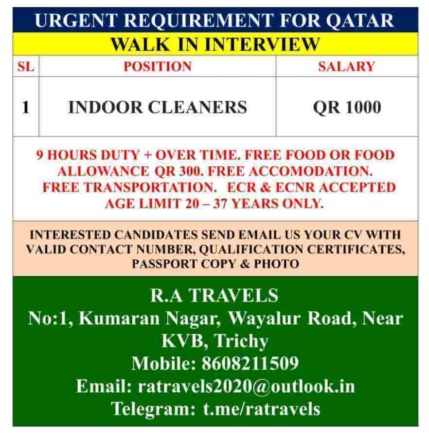 cleaners jobs