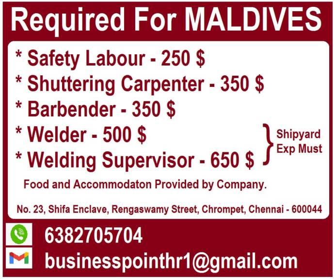 jobs in maldives