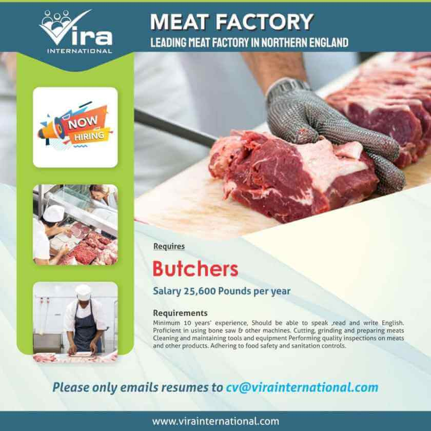 meat factory vacancy