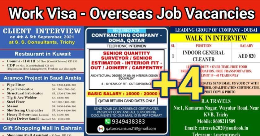 overseas job vacancy
