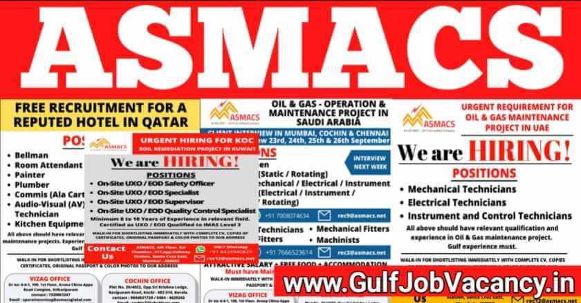 ASMACS Job Vacancy 2021