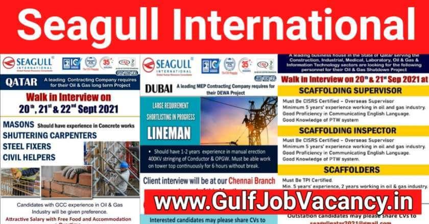 Gulf Job Vacancies 2021