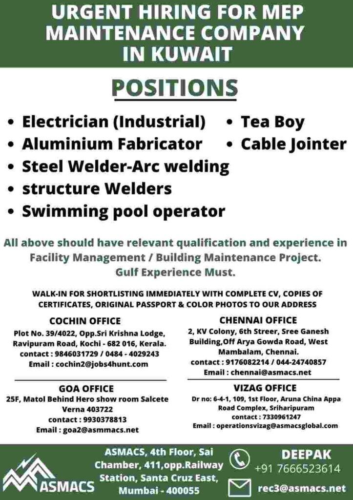 Kuwait Vacancies