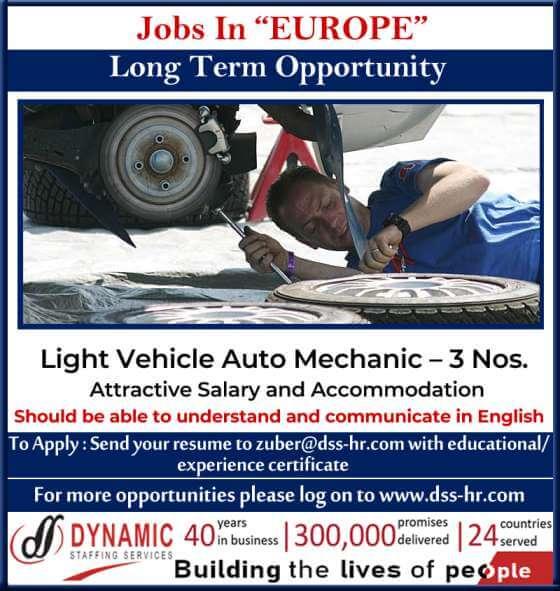 Europe Job Vacancy