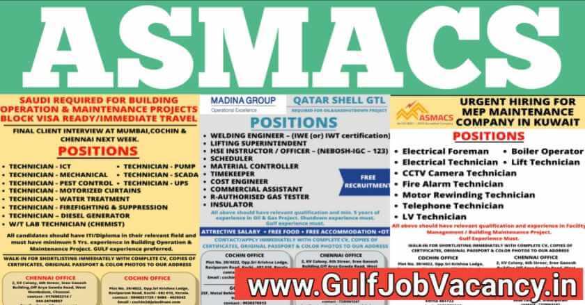 ASMACS Job Vacancy