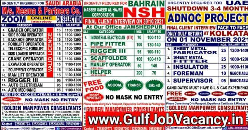 Gulf Jobs Golden Manpower