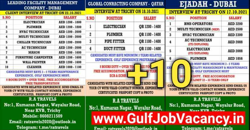 Gulf Jobs Interview in Trichy