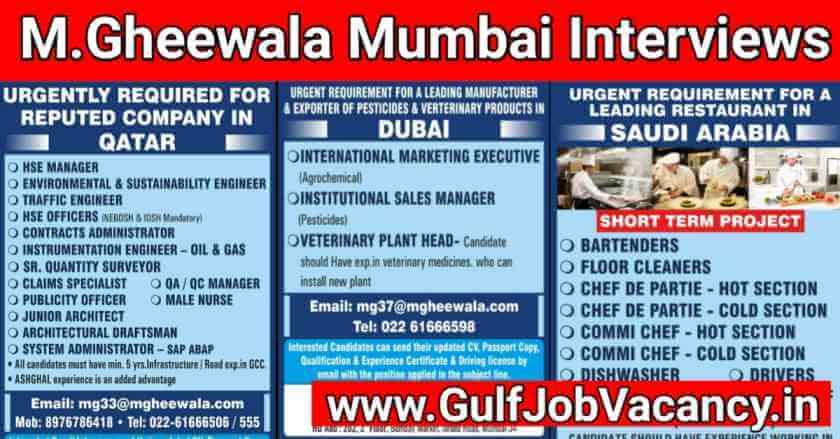 Gulf Jobs Interviews Mumbai