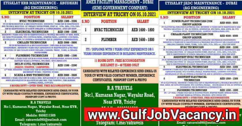 UAE Job Vacancy